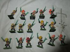 16 CLASSIC METAL DARK ELF WITCH ELVES PAINTED warhammer