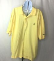Masters Collection Mens Shirt Size XL Yellow Golf Polo Short Sleeve 100% Cotton