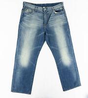 Lucky Brand Mens 40X34 Relaxed Boot Leg Distressed Denim Jeans Medium Wash Blue