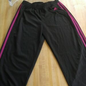 Adidas Black & Pink Track Pants