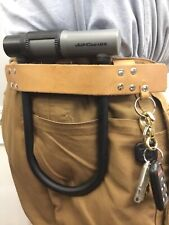 Bicycle U Lock Holster with Key Ring Craftsman Made Bike Accessory