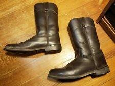 Justin Basic Women's SZ 7.5B LEATHER ROPING RIDING WESTERN BOOTS JB3001