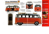 1962 VOLKSWAGEN VW MICROBUS SPEC SHEET/Brochure/Catalog