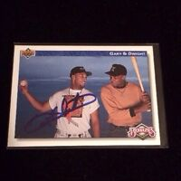 GARY SHEFFIELD 1992 UPPER DECK Autographed Signed AUTO Baseball Card 84  BLOODLI