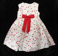 Marmellata Baby Dress 6-9 Mo Sleeveless Christmas Special Occasion Polka Dot