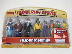 Lakeshore Hispanic Family Set - Block Play People 8 Figures Dollhouse Dolls NEW