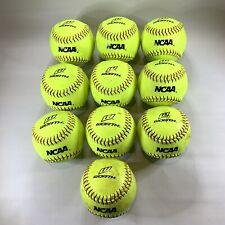 "Lot Of 10 Worth 12"" Ncaa Recreational Neon Yellow Softball Nc12Bb (Practice)"