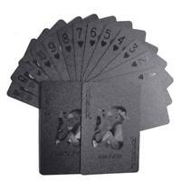 Waterproof Black Diamond Poker Creative Playing Cards Tricks Magic Tool New G5Z7