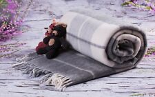 SALE Merino Wool Blanket / Throw 100% Wool Size BLANKET 160 x 200 cm  NEW grey