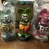 Rat Fink Swinging Figure 3 Set Character goods Toy Total length about 16-17 cm