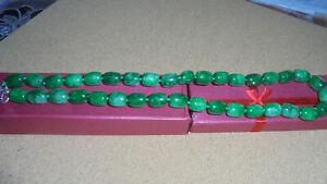 Halskette -SMARAGD STEINE /echt/.Made in Indien!Neu.