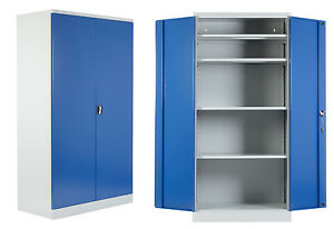 2 x XL Schwerlastschränke Schwerlastschrank Werkstattschrank Metallschrank blau