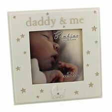"""Bambino Resin Photo Frame 4"""" x 4"""" """"Daddy & Me""""  ideal gift  24402"""
