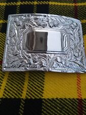 Scottish Kilt Belt Buckle Thistle Flower Chrome Finish/Kilt Belt Buckle/kilt