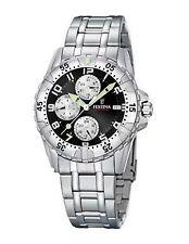 Festina 100 m (10 ATM) Armbanduhren aus Edelstahl mit 12-Stunden-Zifferblatt