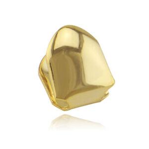 Hip Hop Grills Custom Fit RAP Single Teeth Grillz 18K Gold Silver Plated Lasting