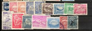 CLASSIC OLD USED STAMPS (16) FROM BOLIVIA #1 IN S. AMERICA, MUST S@@!!!!!!!