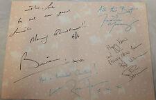 1986 Fan Club Exclusive Queen signed Christmas Card Freddie Mercury Facsimile