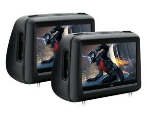 "PAREJA DE REPOSACABEZAS CON DVD Y HDMI LCD 10,1"" TÁCTIL 1080P. ENVÍO GRATIS 24H"