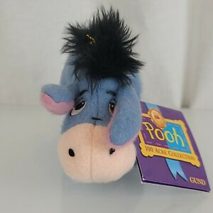 "Disney Eeyore Winnie The Pooh Plush Stuffed Toy 9"" 100 Acre Collection Gund New"