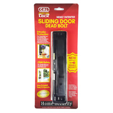 (BLACK) CAL Double Bolt Lock - High Security for Sliding Glass Doors