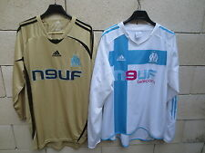 Lot 2 Maillot vintage OM MARSEILLE Adidas football shirt XL manches longues