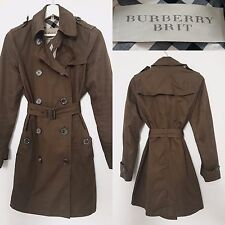 Burberry Coat Trench Classic Raincoat Mac | Brown Khaki | UK 6 | BURBERRY BRIT