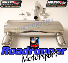 AUDI TT EXHAUST MILLTEK MK1 QUATTRO 1.8 TURBO CAT BACK RESONATE GT100 SSXAU238