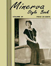 Minerva Knitting Book #39 c.1935 Vintage Patterns for Women's Plus Size Fashions