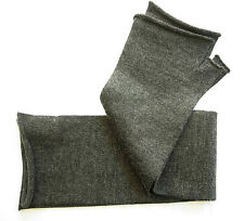 Cashmere Silk Blend fashion gloves knit wrist warmer Charcoal gray grey