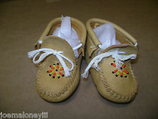 VINTAGE GUILFAIR GUILMOX  LEATHER MOCCASINS CHILD BABY SHOES BOOTIES Size 2