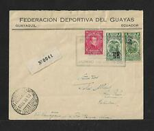 SCADTA ECUADOR TO COLOMBIA FIRST FLIGHT AIR MAIL COVER 1928 SCARCE
