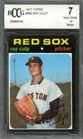 Ray Culp Card 1971 Topps #660 Boston Red Sox BGS BCCG 7