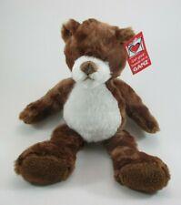 "zzb Chocolate brown PLUSH TEDDY BEAR Cookie Ganz 10"" nwt"