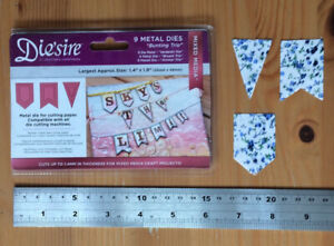 Die'sire Bunting Trio Metal Mixed Media Cutting Dies Craft Clear Out Card Making