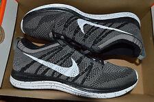 New Womens Nike Flyknit Lunar Orange Running Shoes 554888-010 Sz 8.5 Black White
