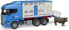 Bruder Scania R-Series Cattle Transportation Toy Truck with Cow 03549 NEW