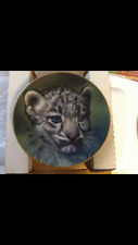 Snow Leopard Cub collector plate Qua Cubs of the Big Cats Wildlife Limited Ed.
