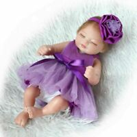 10 inch 26cm Reborn Baby Dolls Realistic Cute Newborn Doll Lifelike Purple Girl
