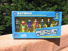 DC Direct Batman Pocket Super Heroes 6 Figures Set & Batman's JLA Chair~New