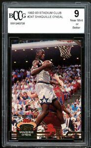 1992-93 Stadium Club #247 Shaquille O'Neal Rookie Card BGS BCCG 9 Near Mint+