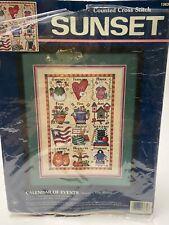 New ListingSunset 13630 Cross Stitch Kit Calendar Of Events Months of Year
