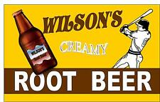 Retro Style Baseball Root Beer  Advertising Sign  door sign, Wall Hanger Sign