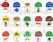 "15 ( 4""X6""each) Shave Shaved Ice Snow Cone Decal Concession Food Truck Series 3"