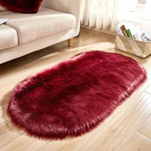 Top Sheepskin Carpet Washable Seat Pad Fluffy Rugs Hairy Wool Soft Warm Carpets