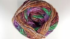 Noro Silk Garden Sock Yarn #S407 Green Pink Brown Purple Tones 100g