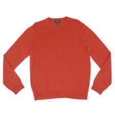 Bloomingdale's Men's Cashmere Sweater Desert Red Crew Neck Large - 4931