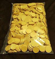 2000 Stück Wertmarken Einkaufswagenchips Pfandmarken Veranstaltung Event Gelb