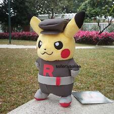 "Nintendo Pokemon Center Go Pikachu Team Rocket 8"" Plush Toy Stuffed Animal Doll"