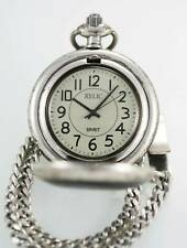 Relic by Fossil Pocket Watch Spirit Gray Mens Stainless Steel Silver Quartz